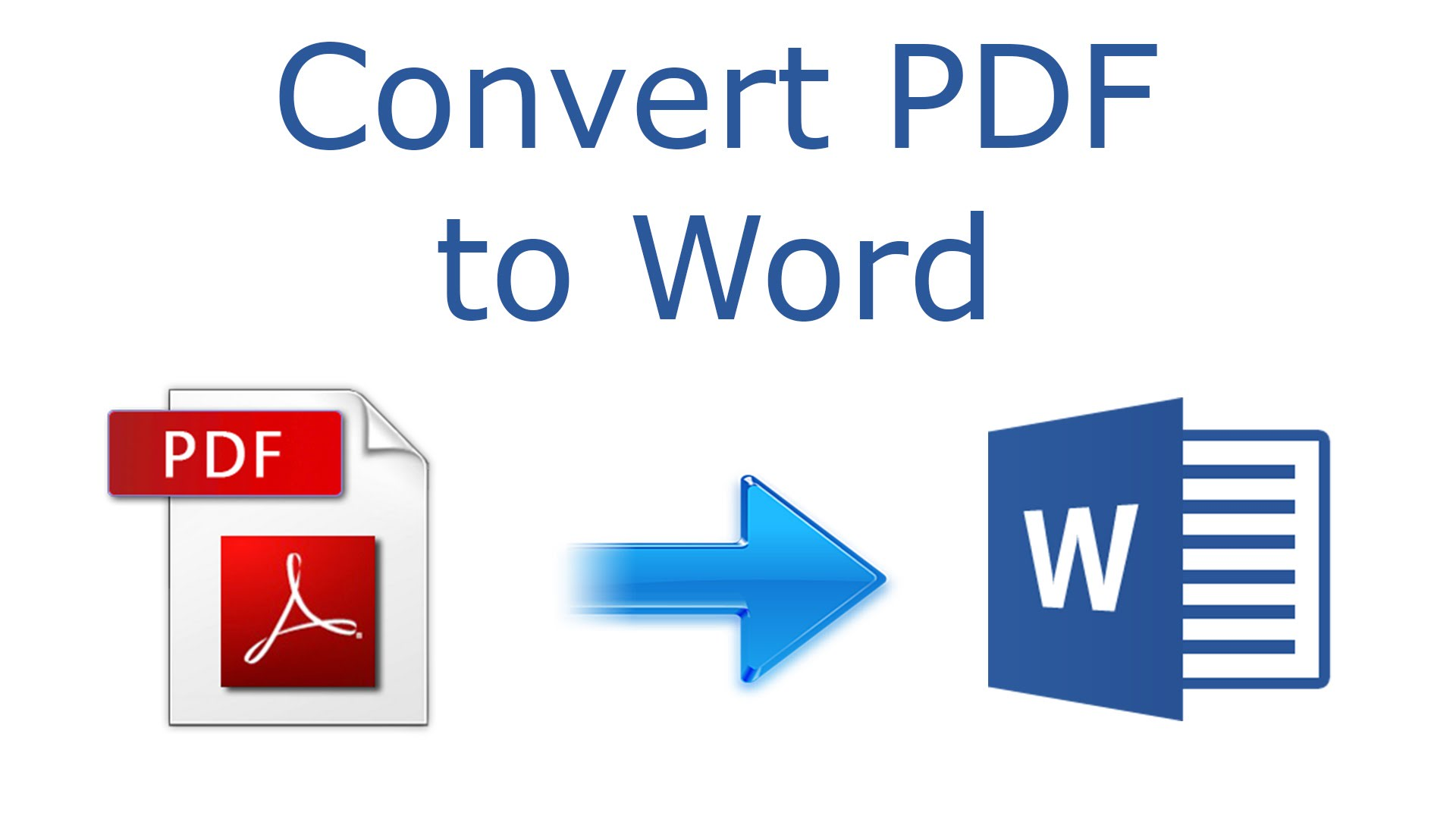 Now it is very easy to convert a document PDF to Word